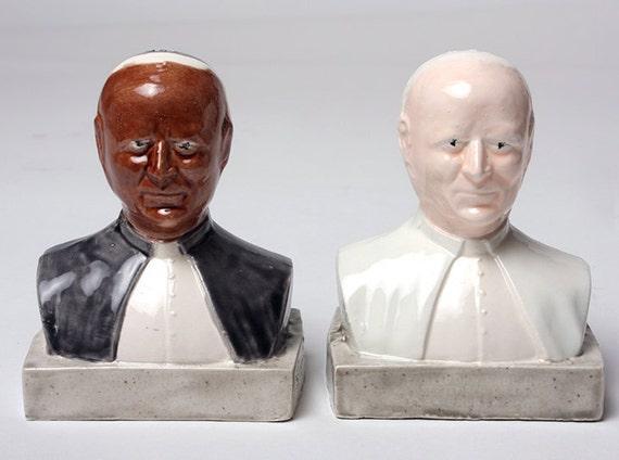 Pope Salt and Pepper Shakers- Multicultural-Ceramic-Rejoice