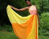 Beautiful Sunny 60's Chiffon Halter Gown RESERVED for Ilyse37