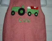 Valentines Tractor Longall  Size 3mo to 4T