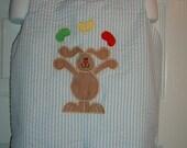 Boys Juggling Bunny Shortall Size  3mo to 4T