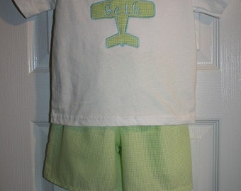 Boys Airplane Short Set Size 12mo to 6