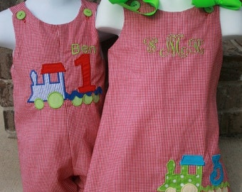 Matching Brother Sisiter Train Outfits Size 3mo to 4 Girls can be up to a 6