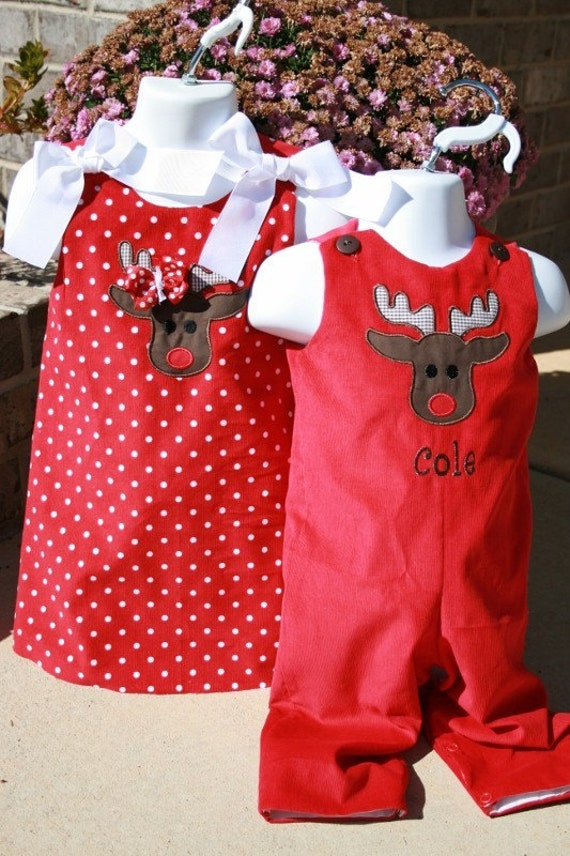 Brother Sister Holiday Outfits Size 3mo to 4T  Girls can go up to a  6.