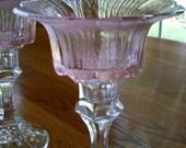 Pink Flower Tea Light Holders