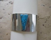Turquoise Cuff Sterling Bracelet