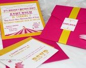 Circus or Carnival Theme Birthday Invitations