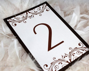Vintage Flair Table Numbers - Set of 10