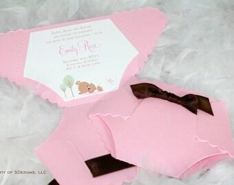 Baby Diaper Announcement - Little baby bear
