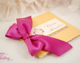 Gorgeous Damask Wedding Programs