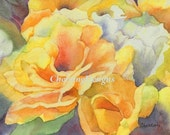 Yellow Roses Gift Card Set