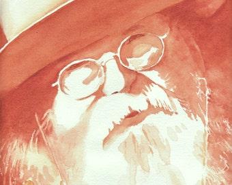 Chuck Wagon Master Watercolor Painting