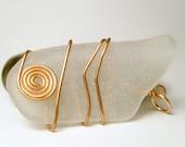 Copper and Sea Glass Pendant