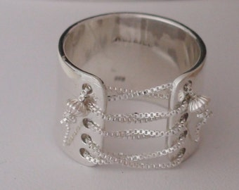 Corset Ring, Lace up Ring, Bead Ring, Wide band ring, trendy jewelry