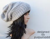 Super cool Chunky silver Hat,knitted