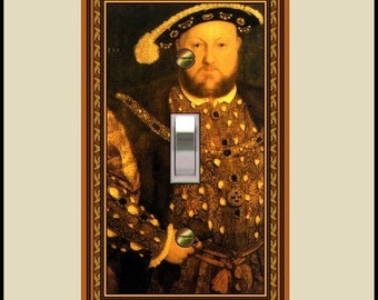 medieval henry VIII design switch plate   719-t1