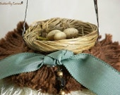 Sweet Nest Tassel in Smoky Blue, Brown, and Cream