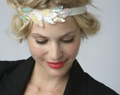 READY TO SHIP - Sherbert Sequin Leaf Applique Headband or Halo