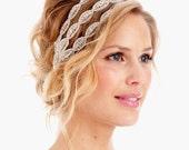076 - BEST SELLER - Poppy Triple Headband- Crystal Headband, Rhinestone, Wedding Headband, Bridal Headband, Wedding Headpiece, tie on