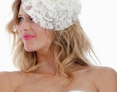064 - French Lace Mini Hat or Fascinator