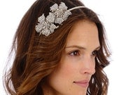 082 -Callie Headband- Encrusted, Wedding, Headpiece, Crystal, Rhinestone, Bridal