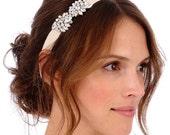 AIMEE Lux Headpiece -  bridal, comb, rhinestone, crystal, veil, brooch, wedding, tiara, head piece, elastic