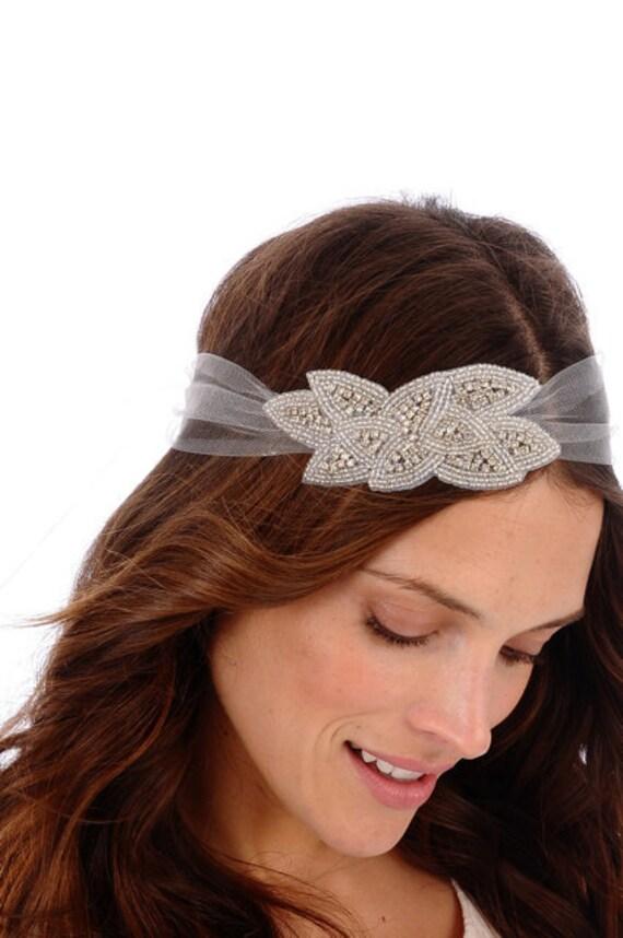 140 - SCARLETT Headband -  bridal, comb, rhinestone, crystal, veil, brooch, wedding, tiara, head piece, Swarovski