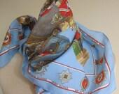 Vintage souvenir scarf the queens guards 70s