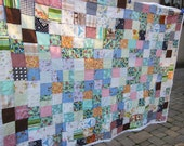 RESERVED for NICOLE vintage patchwork quilt 1960s