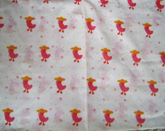 NOVELTY vintage cotton,  30s 40s  fabric, sunny chicks, vintage dressmaking, 30s fabric, antique cotton