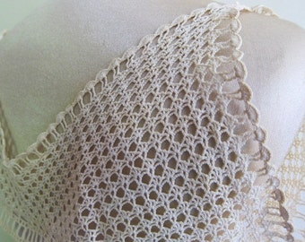 Antique lace  camisole  collar 1920s. antique lace, vintage cami. hand made collar, vintage dressmaking