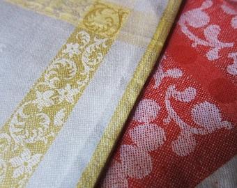 Irish linen damask vintage napkins 8, vintage serviettes, vintage dining, Irish napkins, Irish linen napkins