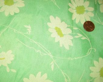 FLOCKED vintage  cotton 60s daisy
