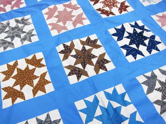 antique quilt top, Star quilt, 19th century, best fabrics, unfinished quilt, unfinished patchwork, vintage quilt top, antique fabrics