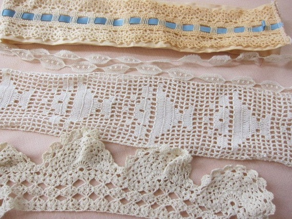 lace trim   lot 10  vintage antique  collar cuff