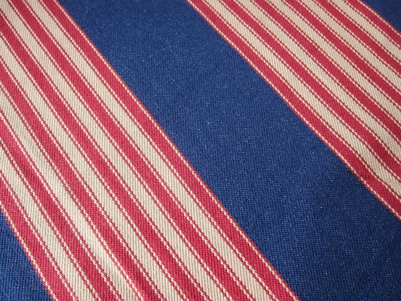 RESERVED for Jennifer Vintage denim TICKING canvas fabric