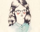 Girls Who Wear Glasses Print