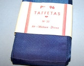 "Vintage 2 3/4"" Royal Blue French Taffeta Ribbon"