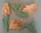 The Coppertail Whale's NEW Mermaid Ornament Set in Turquoise
