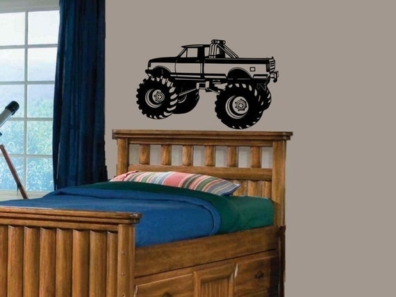 wall decal Monster Truck kids bed room wall decor boy or girl
