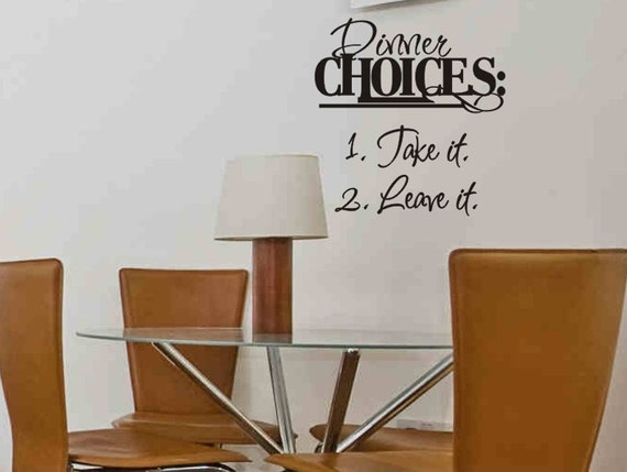 Items similar to dining room wall quote decal sticker for Dining room quote decals