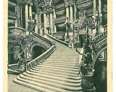 le grand Escalier - The Grand Staircase - Antique Paris Opera Postcard - A. Goulon