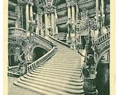 le grand Escalier - The Grand Staircase - Antique Paris Opera Postcard - A. Goulon