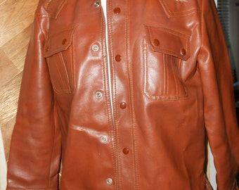 Vintage Imitation Leather ( PVC Vinyl Casting ) Jacket '70s '80s