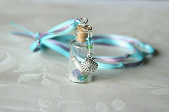 Message in a Bottle Fairy Dust Necklace, Mermaid Magic