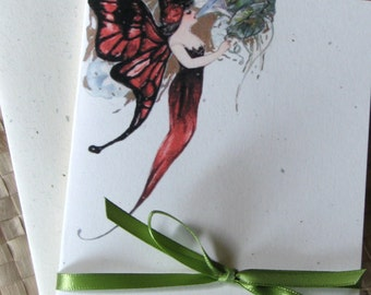 Vintage Fairy Note Card Set, Fairy Card Set, Thank You Note Cards, Whimsical Note Cards, Greeting Cards