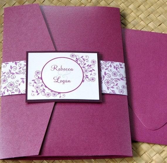 Wedding Invitations With Pockets Folders is luxury invitation design