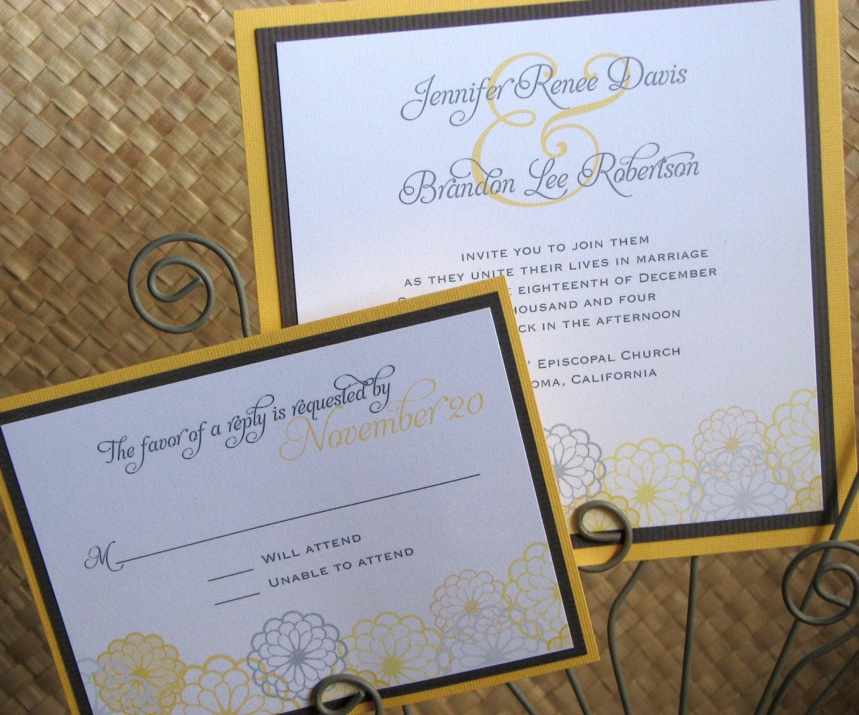Bright Wedding Invitations: Bright Summery Wedding Invitation By LesliesCardart On Etsy