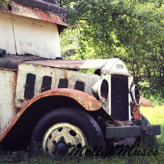 Items similar to Maccar Old Truck Photo Photograph Home