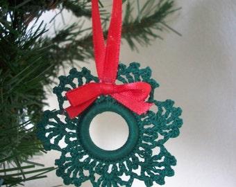 Crochet Wreath Ornament