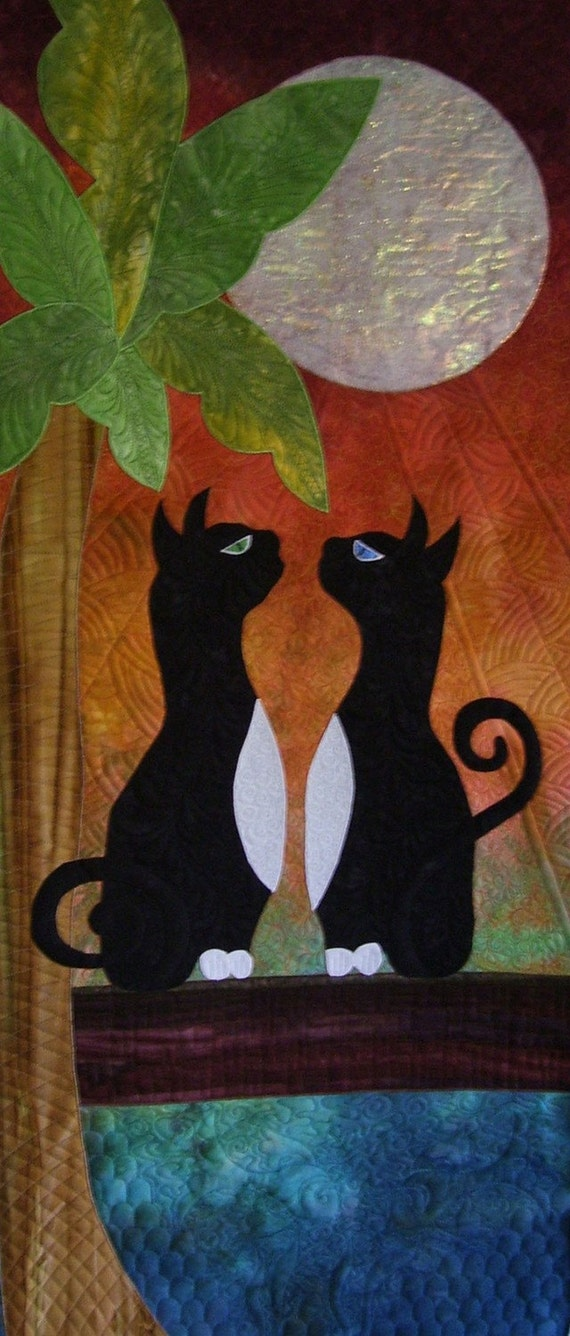 Jellicle Moon Wall Hanging PATTERN and GRADIENT Only Quilt Kit